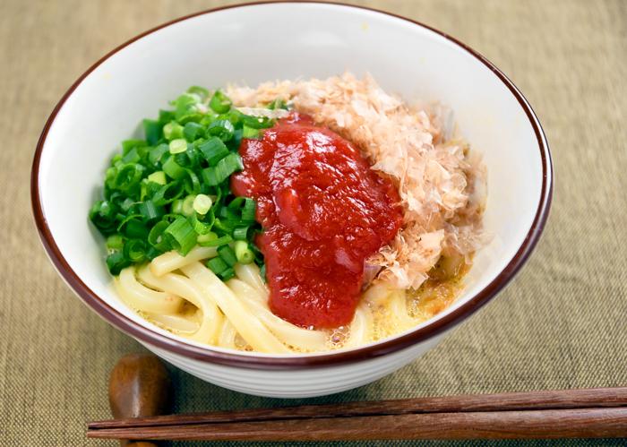 トマトBase 簡単レシピ ひとさじ 釜玉うどん